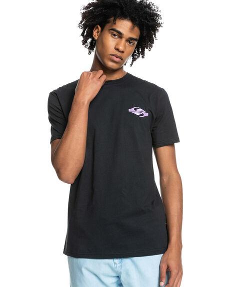 BLACK MENS CLOTHING QUIKSILVER TEES - EQYZT06541-KVJ0