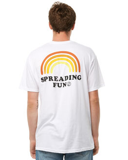 WHITE MENS CLOTHING CAPTAIN FIN CO. TEES - CT181051WHT