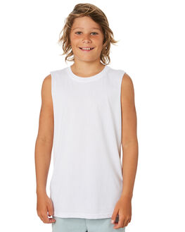 WHITE KIDS BOYS AS COLOUR TOPS - 3010-WHT