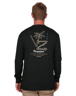 BLACK MENS CLOTHING VONZIPPER TEES - VZ-V901101-BLK