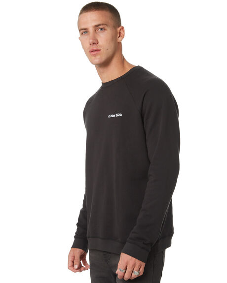 BLACK MENS CLOTHING THE CRITICAL SLIDE SOCIETY JUMPERS - FC1839BLK