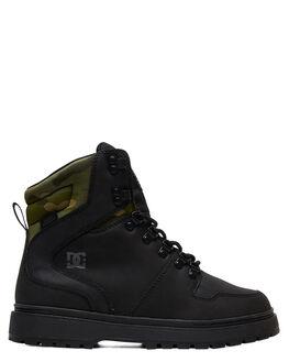 BLACK CAMO MENS FOOTWEAR DC SHOES BOOTS - ADYB700022-BLO