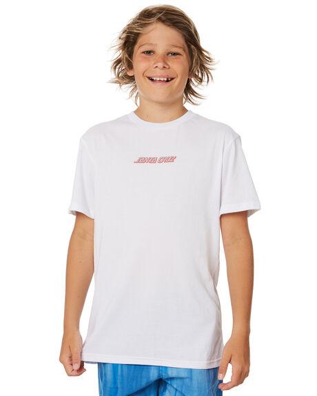 WHITE KIDS BOYS SANTA CRUZ TOPS - SC-YTD8126WHT