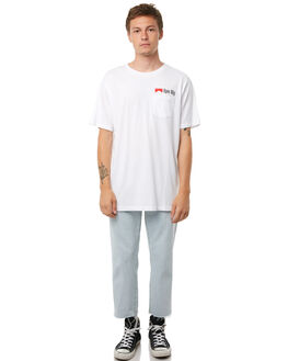 WHITE MENS CLOTHING RPM TEES - 8AMT05BWHT