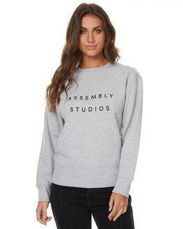 GREY MARLE WOMENS CLOTHING ASSEMBLY JUMPERS - AW-W21708GREYM