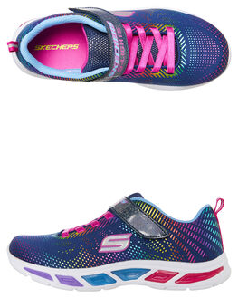 NAVY KIDS GIRLS SKECHERS SNEAKERS - 10959LNVMT