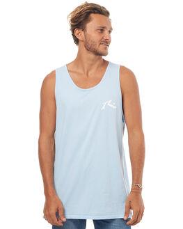 SAIL BLUE MENS CLOTHING RUSTY SINGLETS - TSM0436SAU