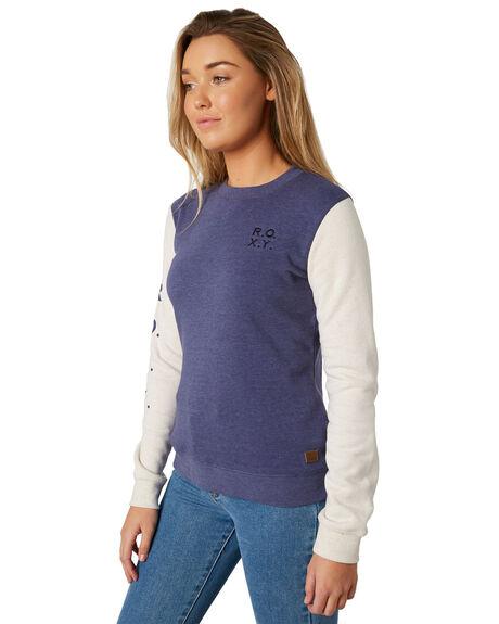 CROWN BLUE WOMENS CLOTHING ROXY JUMPERS - ERJFT03841BQY0
