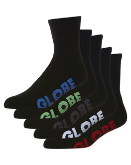 BLACK MENS CLOTHING GLOBE SOCKS + UNDERWEAR - GB71219027BLK