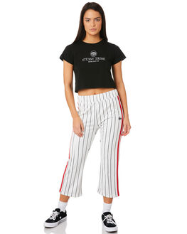 WHITE WOMENS CLOTHING STUSSY PANTS - ST183611WHI