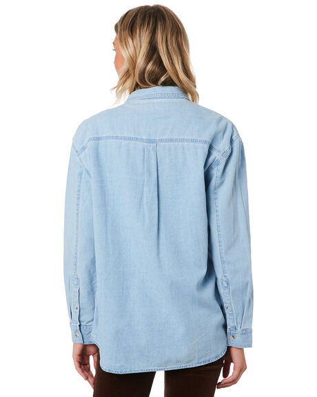 BLEACH BLUE OUTLET WOMENS ROLLAS FASHION TOPS - 13135BLBLU