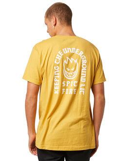 MUSTARD MENS CLOTHING SPITFIRE TEES - 51010552CMUST