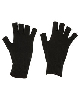 BLACK MENS ACCESSORIES RUSTY SCARVES + GLOVES - MAM0096BLK