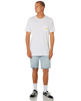 WHITE MENS CLOTHING CAPTAIN FIN CO. TEES - CT184002WHT
