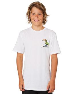 WHITE KIDS BOYS VOLCOM TOPS - C5041870WHT