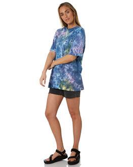 BLUE WOMENS CLOTHING STUSSY TEES - ST193100BLU