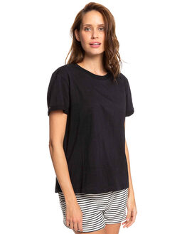 TRUE BLACK WOMENS CLOTHING ROXY TEES - ERJZT04693-KVJ0