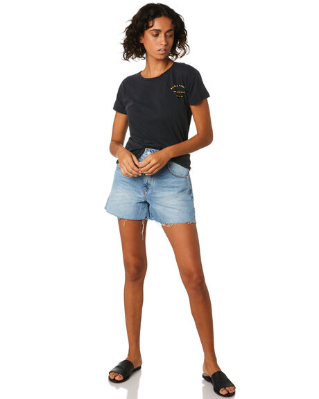 BLACK WOMENS CLOTHING SILENT THEORY TEES - 6022046BLK