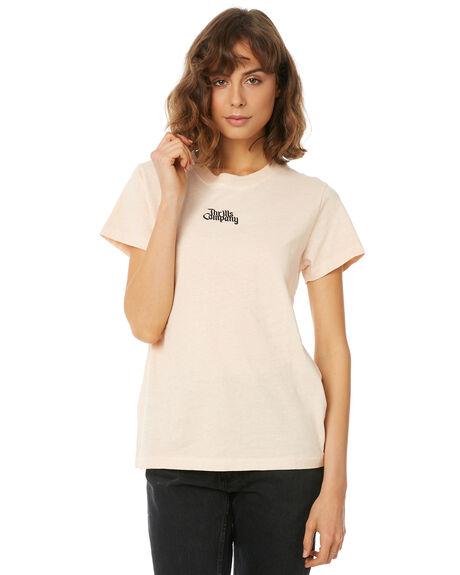 ROSE SMOKE WOMENS CLOTHING THRILLS TEES - WTW8-102PRSMK