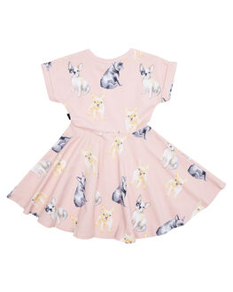 DUSTY PINK KIDS TODDLER GIRLS ROCK YOUR BABY DRESSES + PLAYSUITS - TGD18131-CLDSTPK