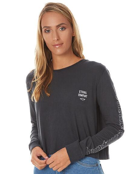 919696bcff Thrills Eagle Crop Womens Long Sleeve - Vintage Black   SurfStitch