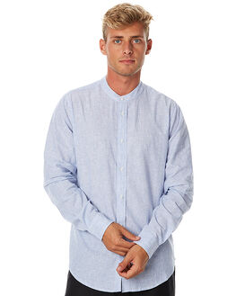 NAVY MENS CLOTHING INSTED WE SMILE SHIRTS - IWSBS1703NVY