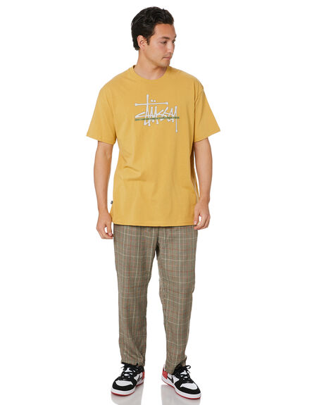 MUSTARD MENS CLOTHING STUSSY TEES - ST001008MUST
