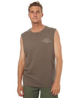 OLIVE MENS CLOTHING RHYTHM SINGLETS - OCT17M-CT11-OLI