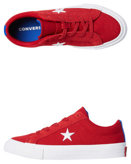 GYM RED KIDS BOYS CONVERSE SNEAKERS - 360595RED