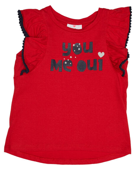 RED KIDS GIRLS EVES SISTER TOPS - 8021003RED