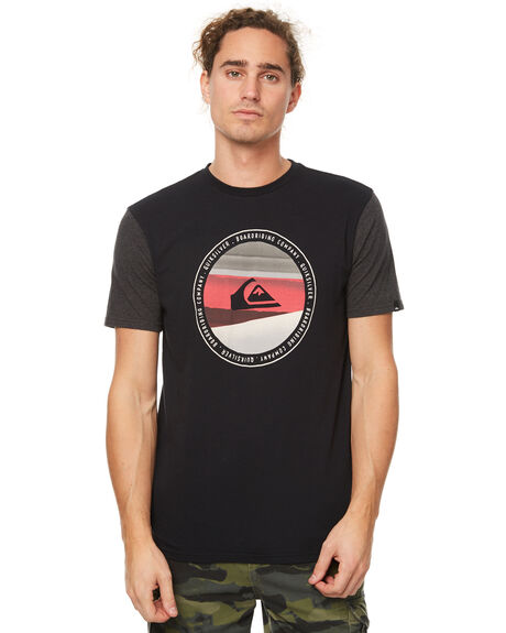 BLACK MENS CLOTHING QUIKSILVER TEES - EQYZT04579KVJ0