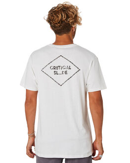 WHITE MENS CLOTHING THE CRITICAL SLIDE SOCIETY TEES - TE18132WHT