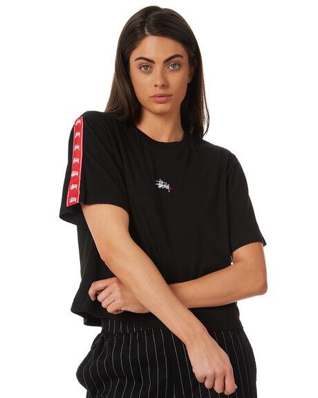 BLACK WOMENS CLOTHING STUSSY TEES - ST186014BLK