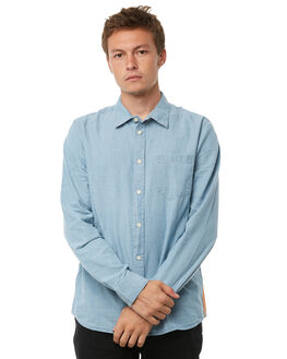 CHAMBRAY MENS CLOTHING NUDIE JEANS CO SHIRTS - 140539B21