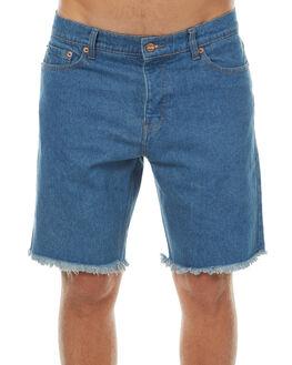 VINTAGE BLUE MENS CLOTHING AFENDS SHORTS - 09-05-021VBLU