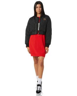 BLACK WOMENS CLOTHING STUSSY JACKETS - ST195701BLK