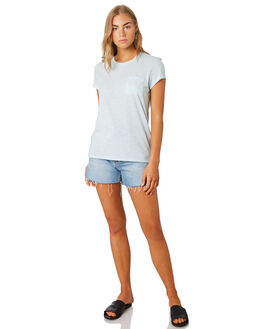 ATOLL BLUE WOMENS CLOTHING PATAGONIA TEES - 52980ATBL