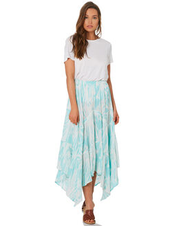 TURQUOISE WOMENS CLOTHING TIGERLILY SKIRTS - T392279TURQ