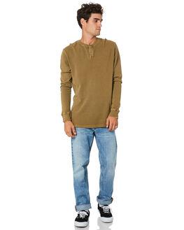 WASHED TOBACCO MENS CLOTHING MCTAVISH TEES - MW-20LS-03WSHTB