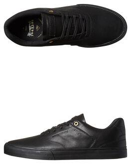 BLACK BLACK MENS FOOTWEAR EMERICA SKATE SHOES - 6102000114003