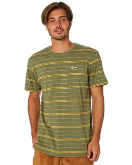OLIVE MENS CLOTHING RHYTHM TEES - JAN19M-CT05-OLI
