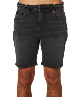 ONE YEAR BLACK MENS CLOTHING LEE SHORTS - L-606460-KF81YBLK