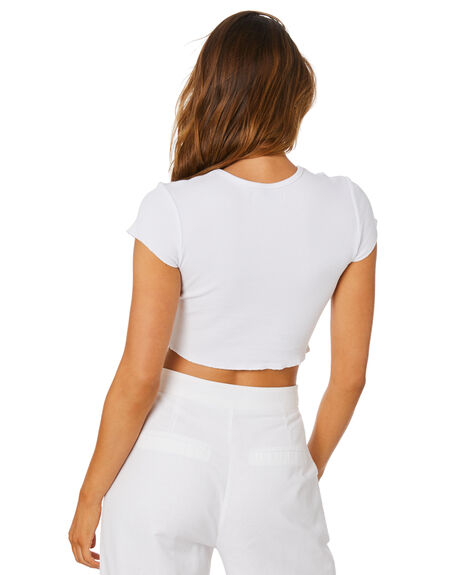 WHITE WOMENS CLOTHING NUDE LUCY TEES - NU23263WHT