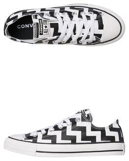 WHITE BLACK WOMENS FOOTWEAR CONVERSE SNEAKERS - 565438CWHTB