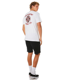 WHITE OUTLET MENS INDEPENDENT TEES - IN-MTD9320WHT