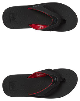 ALL BLACK RED MENS FOOTWEAR REEF THONGS - 2026ABR