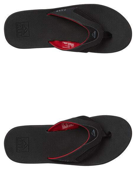 ALL BLACK RED MENS FOOTWEAR REEF THONGS - 2026ABR