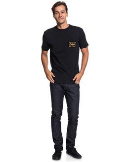 BLACK MENS CLOTHING QUIKSILVER TEES - EQYZT05109KVJ0