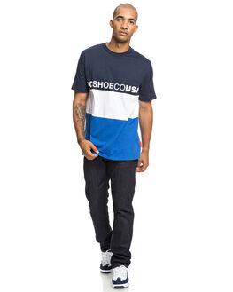 BLACK IRIS MENS CLOTHING DC SHOES TEES - EDYKT03446-BTL0