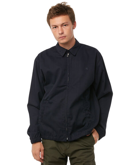 DARK NAVY MENS CLOTHING CARHARTT JACKETS - I0239701C